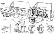 Classic Mustang Door Trim Panel Diagram