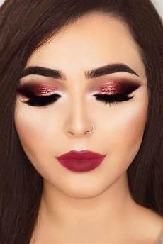 makeup christmas makeup sparkles smokey and berry