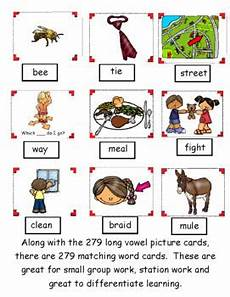 Long Pocket Chart Long Vowel Pairs Pocket Chart Sort With Matching Word