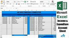 Monthly Expenses Excel Sheet Format Excel Tutorial Income And Expenditure Account Balance