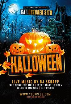Halloween Flyers Templates Free Dark Halloween Party Flyer Template Creative Flyers