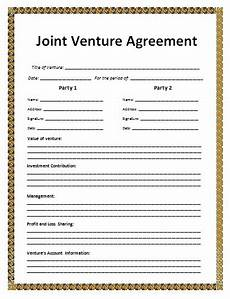 Joint Venture Contract Joint Venture Agreement Format Free Word S Templates