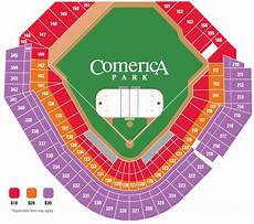 Detroit Tigers Seating Chart With Rows Comerica Park Detroit Mi Seating Chart View