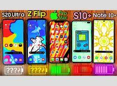 Samsung Galaxy S20 Ultra vs iPhone 11 Pro MAX vs Z Flip vs