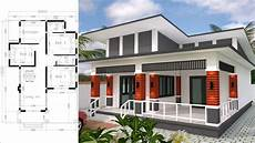 bungalow house design 9x13 5 meter with 3 bedrooms home