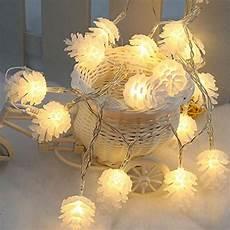 Pine Cone String Lights 2 2m 20 Led Pinecone String Lights Pine Cone Lamp Light