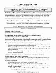 Resume Objective Account Manager Make Key Account Manager Resume Objective Global Account