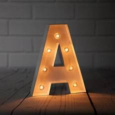 Metal Letters With Lights Wholesale White Marquee Light Letter A Led Metal Sign 8 Inch