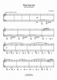 sing sing sing with a swing louis prima piano sheet sing sing sing with a swing easy
