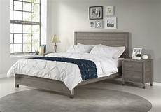 baja platform bed size rustic grey finish camaflexi