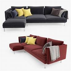 Sofa Chairs For Bedrooms 3d Image by Ikea Soderhamn Sofa And Chaise Lounge 3d Model Facequad