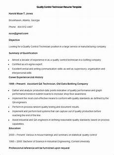 Quality Control Technician Resumes Manufacturing Resume Template 26 Free Samples Examples