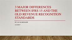 New Revenue Recognition Standard 3 Major Differences Between Ifrs 15 And The Old Revenue