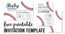 Baseball Template Baseball Party Invitations Free Printable Paper Trail Design