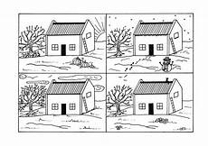 four seasons country cottage coloring page favecrafts