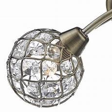 Ball Ceiling Light Beaded Ball Semi Flush Ceiling Light Antique Brass