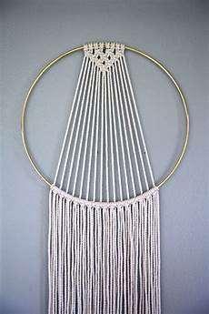 macrame catcher hoop wall hanging 55 quot