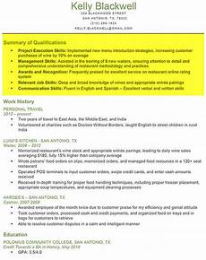 What Is Summary Of Qualifications On A Resume How To Write A Resume Resume Genius