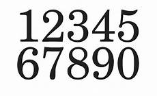 Fonts For Numbers Primitive Number Stencil 4 Schoolbook Font Numbers 0 9
