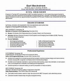 Civil Engg Resume 20 Civil Engineer Resume Templates Pdf Doc Free