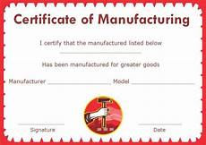 Certificate Of Manufacture Template Certificate Of Compliance Template Manufacturing