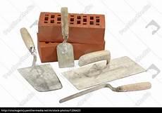 Maurer Werkzeug Setstoff by Gebrauchtes Maurerwerkzeug Stockfoto 1206423