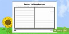 post card template twinkl new summer holidays postcard activity sheet send