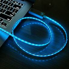 Wireless Phone Charger Light Up Light Up Luminescent Visible Flow Smart Charger Sync Cable