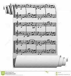 Music On Paper Music Written On Paper Stock Vector Illustration Of