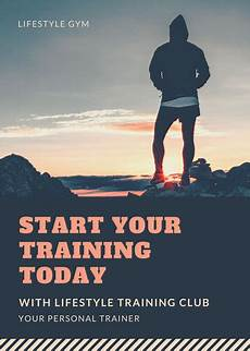 Training Advertisement Template Customize 102 Fitness Flyer Templates Online Canva