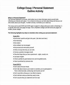 College Application Essay Outline Free 32 Sample Essay Outlines In Pdf Doc Examples