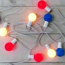 Red White Blue String Lights Red White Amp Blue G40 Globe String Lights