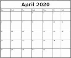 print calendar april 2020 april 2020 printable monthly calendar