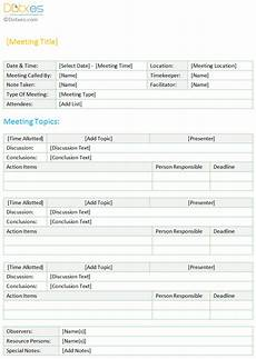 Minutes Templates Minutes Of Meeting Template Standard Format Dotxes