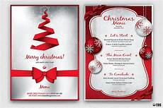 Free Blank Christmas Menu Templates Christmas Menu Template V4