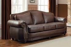 homelegance midwood bonded leather sofa brown