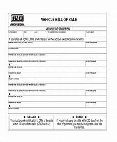 Dmv Ca Gov Bill Of Sale Free 9 Dmv Bill Of Sale Form Samples In Pdf Ms Word