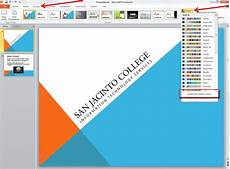 Powerpoint Custom Background Applying And Modifying Themes In Powerpoint 2010