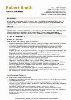 Resume Sample For Accountants Public Accountant Resume Samples Qwikresume