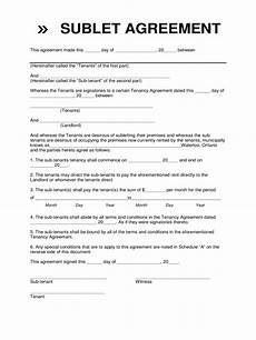 Sublet Agreement Format Sublet Contract Form 2 Free Templates In Pdf Word
