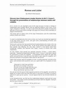 Romeo And Juliet Analysis Essay Gcse English Romeo And Juliet Essay Final