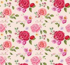 Floral Background Design Seamless Pattern With Roses Floral Background Design