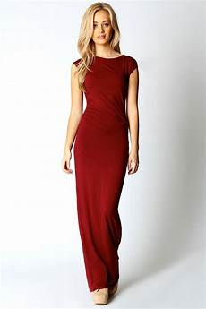 cap sleeve maxi dresses for boohoos womens philipa ruched side detail maxi dress ebay