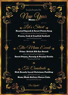 New Years Template 8 Best New Year Menu Templates To Try This Season