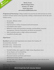 High End Retail Resume How To Write A Perfect Retail Resume Examples Included