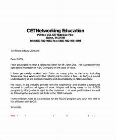 Personal Job Reference Letter Free 59 Reference Letter Templates In Pdf Ms Word