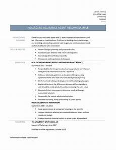 Insurance Agent Resumes Health Insurance Agent Resume Samples And Job Description