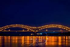 Hernando De Soto Bridge Lights Memphis M Bridge At Night K Sisson Photographer