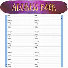 Address Template For Word Free 9 Sample Address Book In Pdf Ms Word Psd