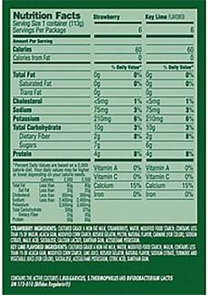 Activia Light Yogurt Nutrition Label Activia Light Activia Light Fat Free Yogurt Strawberry Key